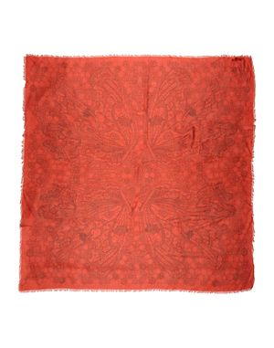 红色 ALEXANDER MCQUEEN 方巾