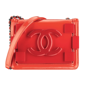 Chanel香奈儿2014春夏高级成衣系列橘色单肩包