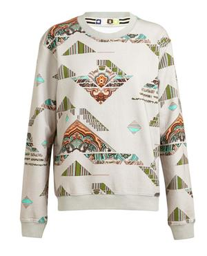 Abstract Paisley Printed Cotton Sweatshirt