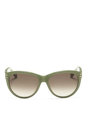 Studded round-frame sunglasses