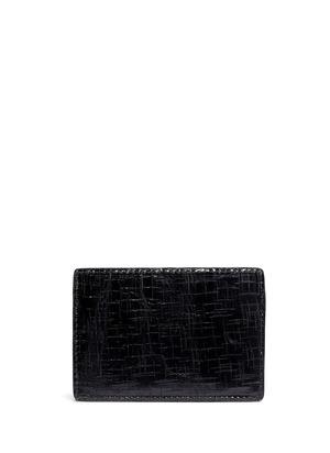Embossed-back leather cardholder