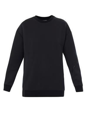 Neoprene zip-detail sweatshirt