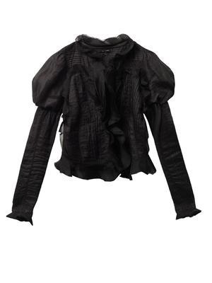 Ostia Vintage ruffle ramie jacket
