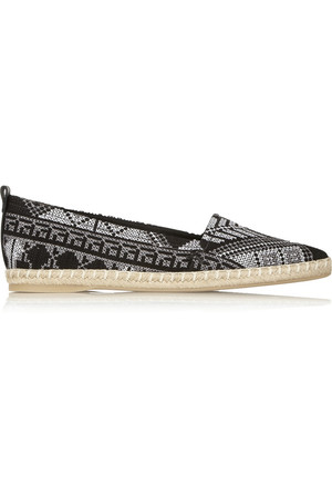 Mexican 刺绣斜纹布麻底鞋