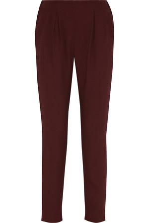 高腰绉纱锥形裤