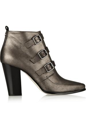 Hutch 金属感皮革及踝靴