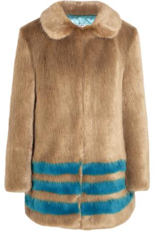 Wilma 带条纹人造皮草外套
