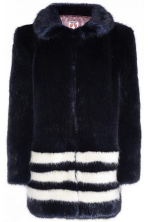 Wilma 条纹人造皮草外套