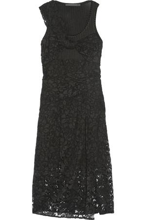 蕾丝和弹力针织连衣裙