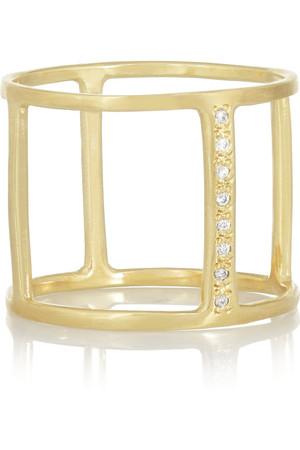 10K 黄金钻石笼形戒指