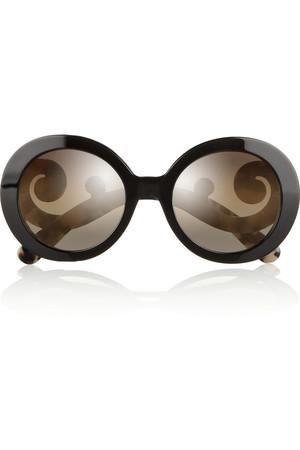 圆框板材太阳镜