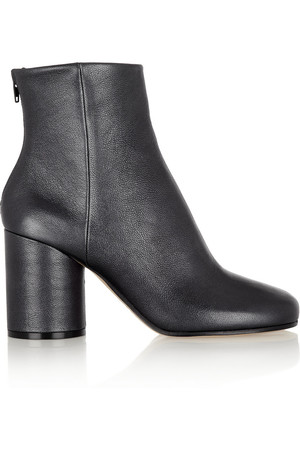 金属色皮革及踝靴