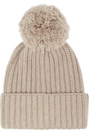 罗纹羊毛套头帽