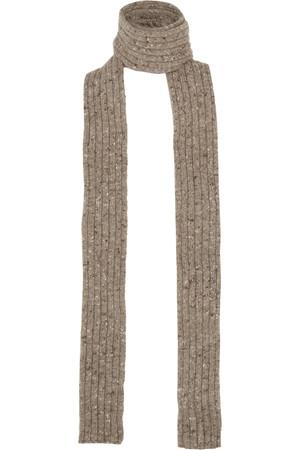 罗纹针织羊绒围巾