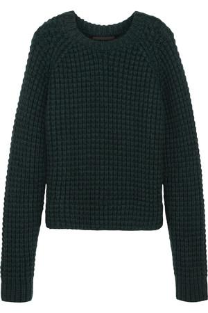 粗针织羊毛混纺毛衣