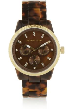 Ritz 醋酸树脂金色不锈钢腕表