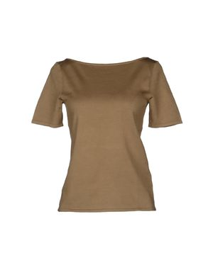 驼色 RALPH LAUREN 短袖针织衫