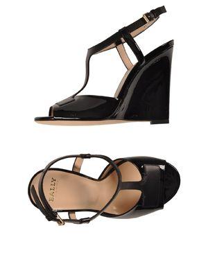 黑色 BALLY 凉鞋