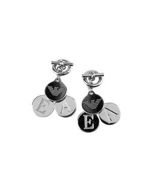 银色 EMPORIO ARMANI 耳环