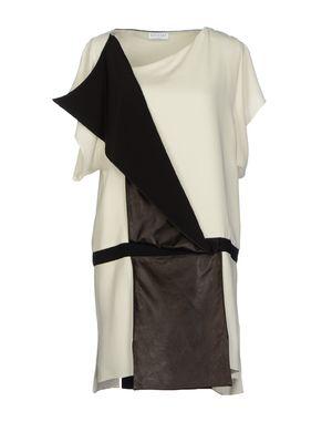 白色 VIONNET 及膝连衣裙