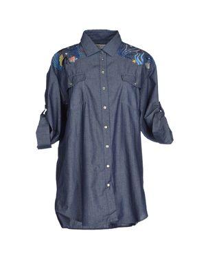 蓝色 PAUL & JOE 牛仔衬衫