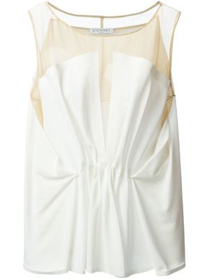 VIONNET gathered front sleeveless blouse