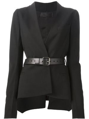 HAIDER ACKERMANN belted fitted jacket