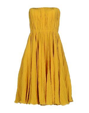 黄色 OSCAR DE LA RENTA 中长款连衣裙