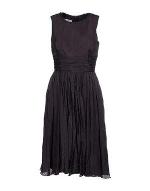 黑色 OSCAR DE LA RENTA 及膝连衣裙
