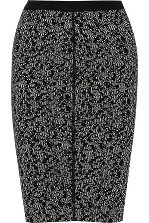 针织羊毛混纺铅笔半身裙