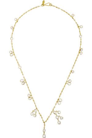 18K 黄金钻石项链