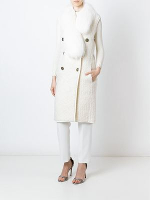 VIONNET sleeveless coat
