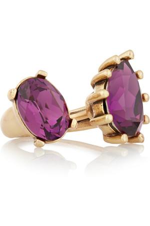 水晶镀金戒指