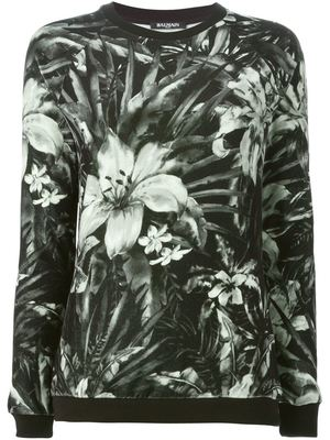 BALMAIN floral print sweatshirt