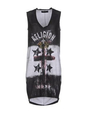 青灰色 RELIGION 短款连衣裙