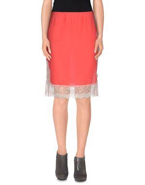 珊瑚红 PINKO SKIN 及膝半裙
