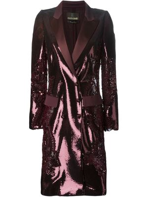 ROBERTO CAVALLI sequined double breasted coat