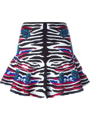 ROBERTO CAVALLI zebra print mini skirt