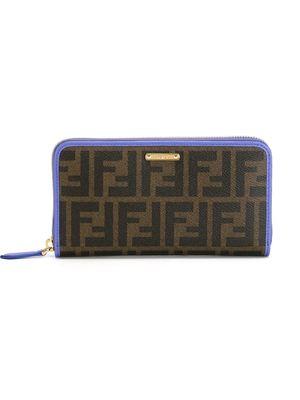 FENDI FF logo zip around wallet