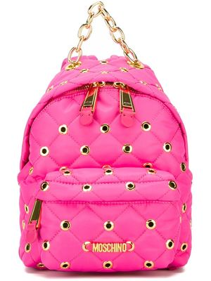 MOSCHINO eyelet embellished backpack