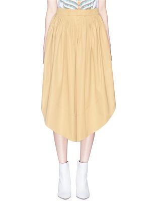 SAHARA褶裥开衩半身裙裤