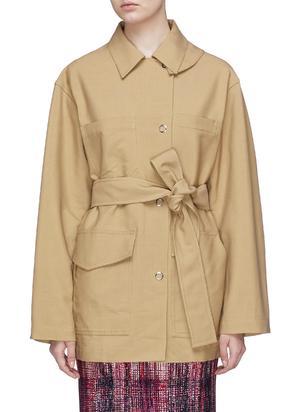 SAHARIENNE腰带点缀纯色夹克