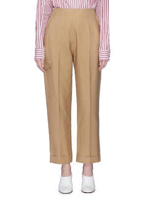 口袋点缀长裤