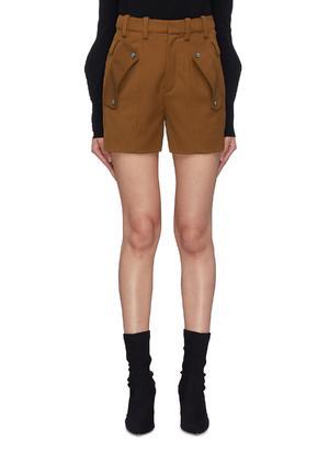 钮扣翻折口袋短裤