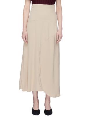 高腰不对称半身裙