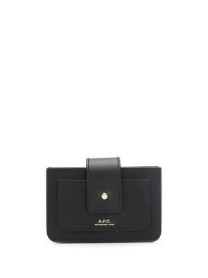A.P.C. logo print purse - Black