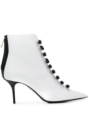 MSGM bow detail booties - White
