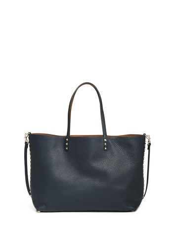 Reversible Rockstud leather tote