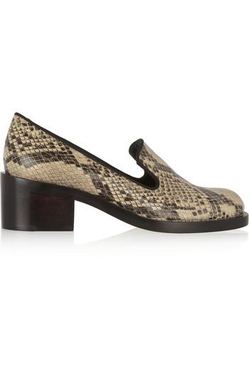蛇皮效果仿皮乐福鞋