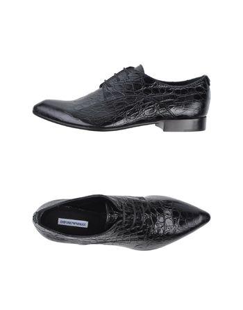 黑色 EMPORIO ARMANI 系带鞋